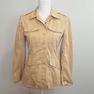 Theory tan safari style jacket